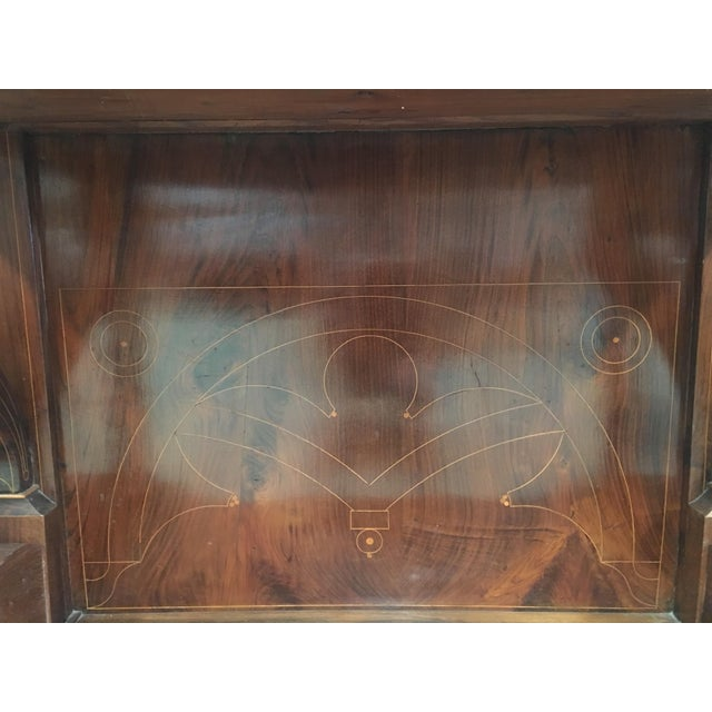 20th Century Biedermeier Style Marquetry Spanish Console Table With Drawer For Sale - Image 9 of 10