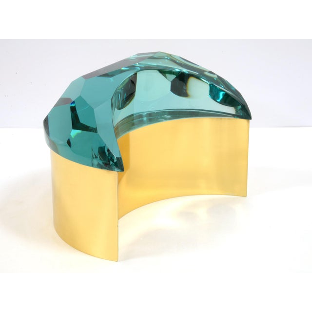 2010s Brass and Glass Box by Roberto Giulio Rida For Sale - Image 5 of 5