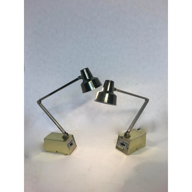 Mid-Century Gold Adjustable Tensor Lamps - A Pair - Image 6 of 7