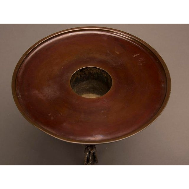 Mid 19th Century Circular Bronze Ikebana Container, Japan c. 1860 in two parts For Sale - Image 5 of 6