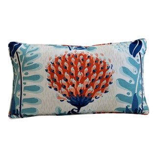 Thibaut Tiverton Coral Pillow Cover With Self Welt For Sale