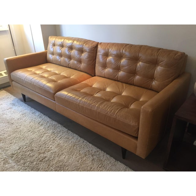 Astonishing Crate Barrel Petrie Leather Sofa Pabps2019 Chair Design Images Pabps2019Com