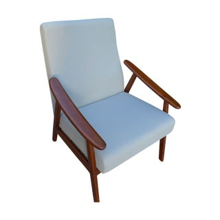 Mid-Century Modern Lounge Chair in Gray