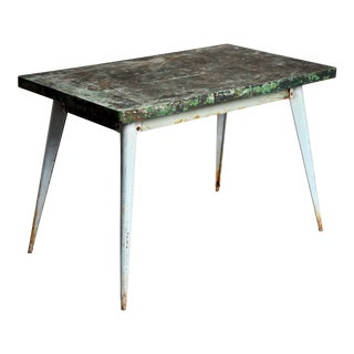 "Industrial Work Table ""Tolix"" Brand For Sale"