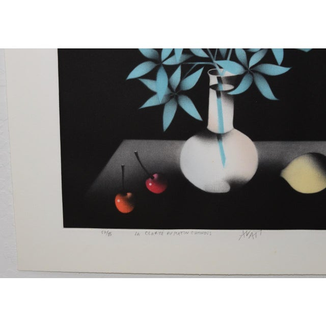 "Asian Mario Avati ""La Clarté Du Matin Chinois"" Mezzotint C.1991 For Sale - Image 3 of 8"