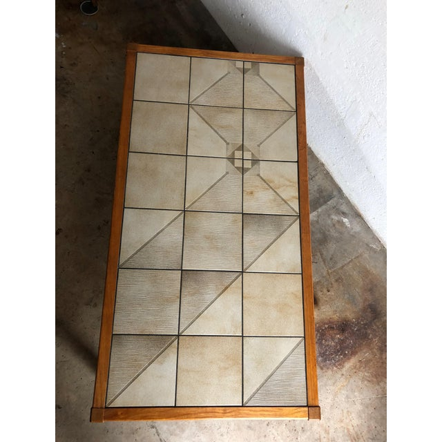 Wood Vintage Mid-Century Danish Modern Tile Top Coffee Table by Gangso Mobler For Sale - Image 7 of 10