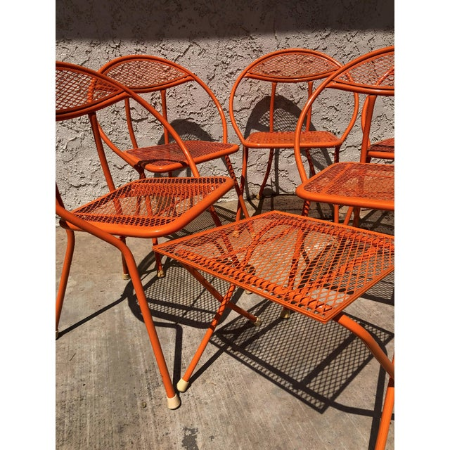 Mario Tempestini 1960s Vintage Maurizio Tempestini for Salterini Hoop Seating Set- 6 Pieces For Sale - Image 4 of 8