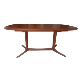 1960s Swedish Modern Teak Drylund Dining Table For Sale