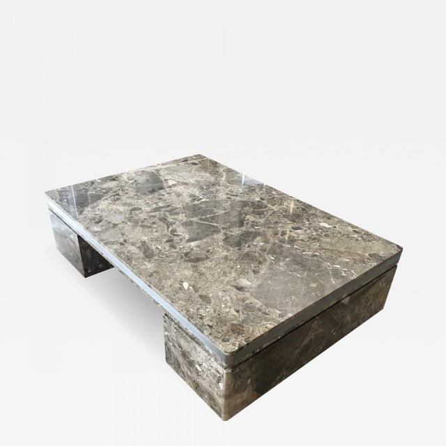 Large Marble Coffee Table by Brueton For Sale In Miami - Image 6 of 6