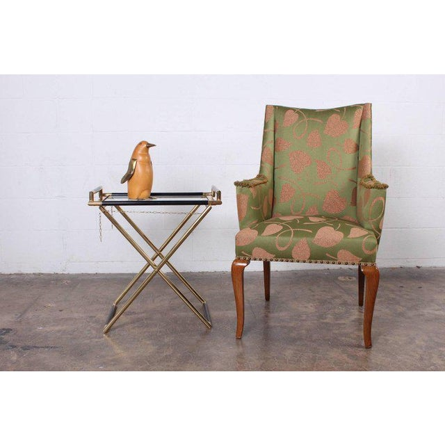 Gold Italian Folding Tray Table in Brass For Sale - Image 8 of 9