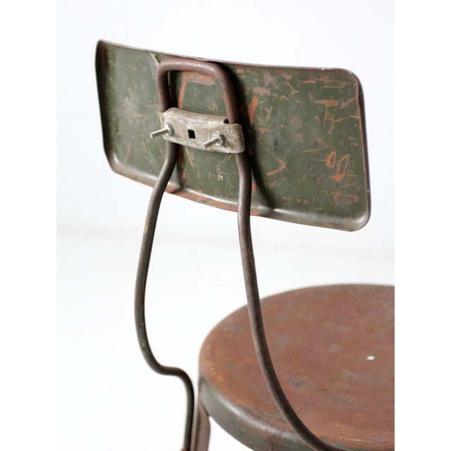 Vintage Industrial Drafting Stool For Sale - Image 9 of 12
