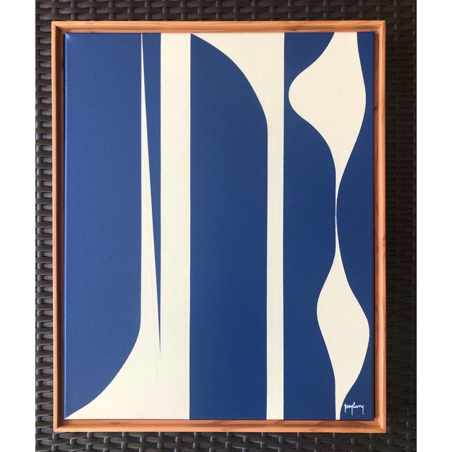 Modern Modern Blue Painting by Tony Curry For Sale - Image 3 of 3