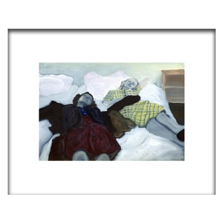"""""""The Party Poopers"""" Contemporary Figurative Mixed-Media Painting on Yupo by Christy Powers, Framed For Sale"""