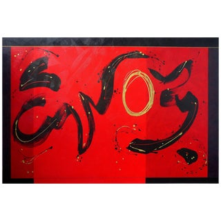 "Monumental Painting ""The New Freedom in Red V"" by Cerj Lalonde 'Canada', 2008 For Sale"