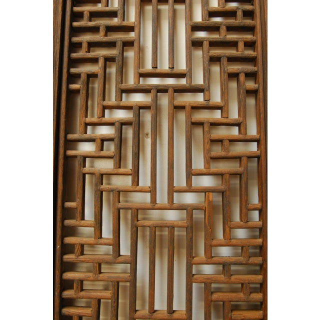 Chinese Lattice Panel Doors - Set of 4 For Sale - Image 10 of 10