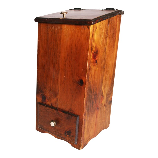 Vintage Rustic Wood Taters & Onions Bin - Image 1 of 11