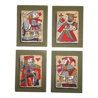 Vintage . Serigraphs-Mark Coomer-Listed American Artist-Playing Cards-Set of 4 For Sale