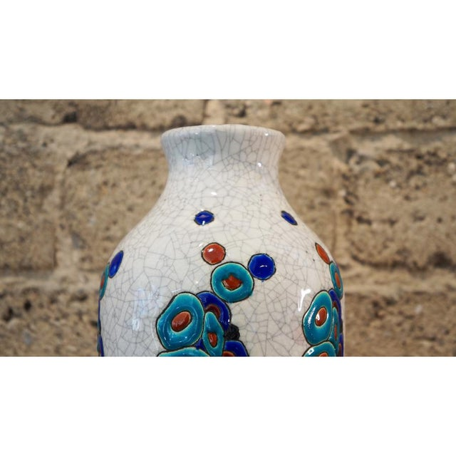Boch Freres Keramis 1920s Charles Catteau Vase For Sale - Image 4 of 8
