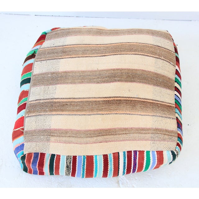 Vintage Moroccan Pouf - Image 5 of 6