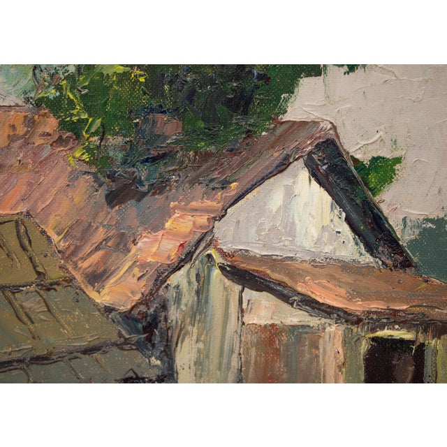 "Mid 20th Century Original ""Old Barns, Southern California"" Oil Painting by Jon Blanchette For Sale - Image 5 of 9"