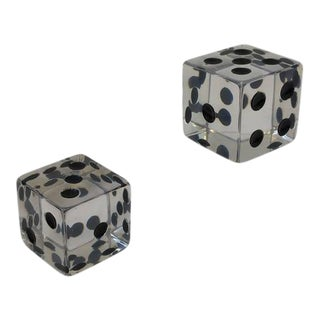 Large Acrylic Dice by Charles Hollis Jones - a Pair For Sale