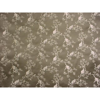 Kravet Couture Kamiko Cactus Flora Monkey Brocade Upholstery Fabric- 9-3/8 Yards For Sale