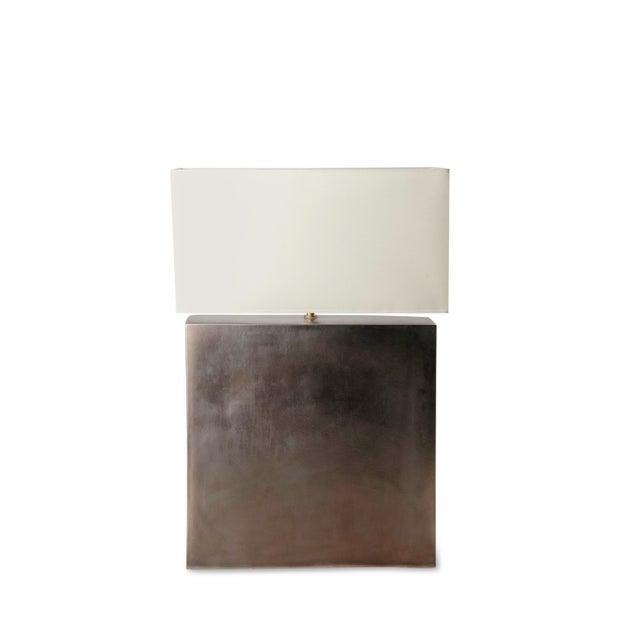 Platinum Glazed Ceramic Table Lamp - Image 7 of 7