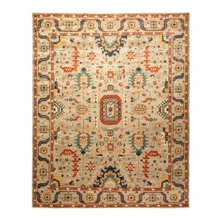 One-Of-A-Kind Oriental Serapi Hand-Knotted Area Rug, Sandcastle, 8' 0 X 9' 8 For Sale