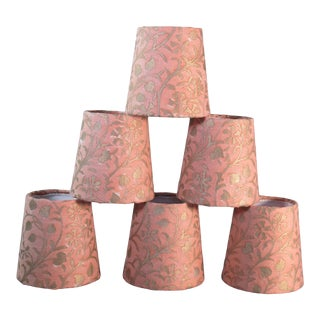 Fortuny Chandelier Shades- Set of 6 For Sale
