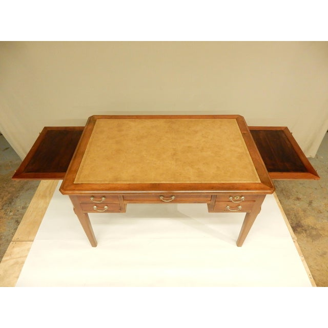 19th Century French Walnut and Leather Top Desk For Sale - Image 4 of 9