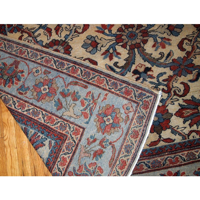 1900s Handmade Antique Persian Mahal Rug 9.2' X 11.6' For Sale - Image 10 of 11
