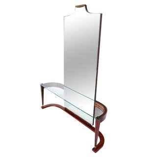 Italian Console Table With Mirror For Sale