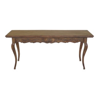 Country French Carved Wood Console / Sofa Table For Sale