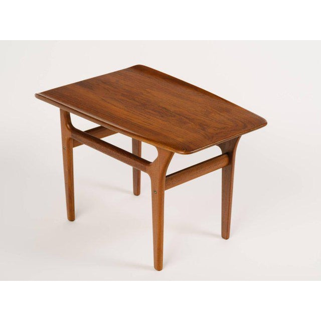 1960s Pair of Danish Modern Teak Side Tables in the Style of Poul Jensen For Sale - Image 5 of 11