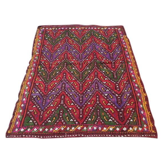Vintage Turkish Kilim Rug - 3′3″ × 4′4″ - Image 1 of 6