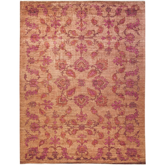 "Oushak Hand Knotted Area Rug - 9'5"" X 12'2"" For Sale"