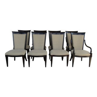 Brown Upholstered Dining Chairs - Set of 6