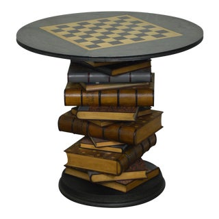 Jonathan Charles Stacked Books Tenbury Library Game Table