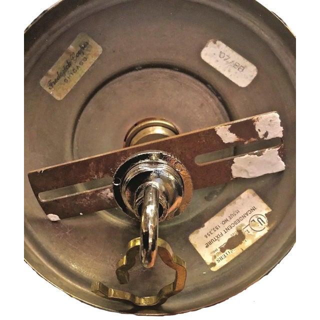 Gold Vintage Frederick Cooper French Horn Chandelier For Sale - Image 8 of 9