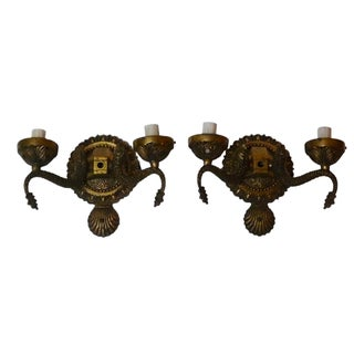 Vintage Brass Sconces - A Pair