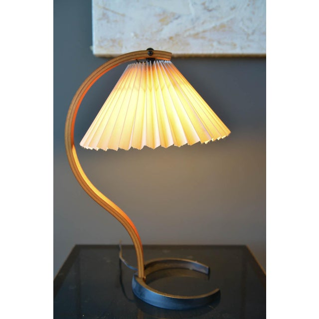 Mid-Century Modern Bentwood Table Lamp by Caprani Light of Denmark, Circa 1971 For Sale - Image 3 of 12