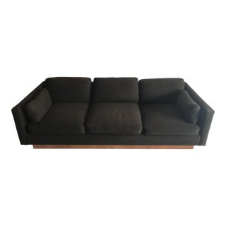 1960s Mid Century Modern Brown Sofa For Sale