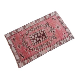 """Distressed Turkish Oushak Miniature Rug 1'7"""" X 2'7"""" For Sale"""