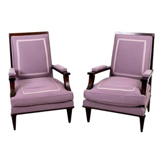 1940s Vintage Jules Leleu Attributed Armchairs - a Pair For Sale