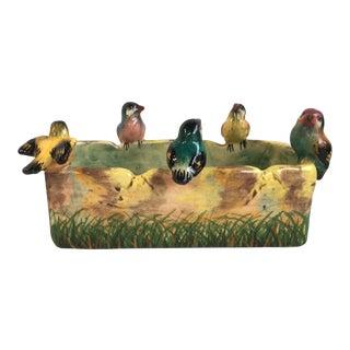 Majolica Birds Jardinier Jerome Massier Fils Circa 1900 For Sale