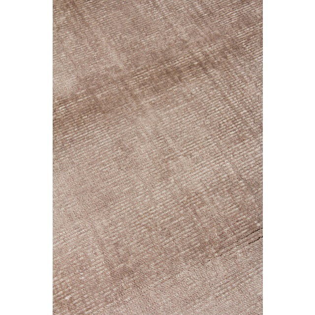 """Not Yet Made - Made To Order Raven Hand loom Wool/Viscose Beige Rug-8'x10'"""" For Sale - Image 5 of 7"""