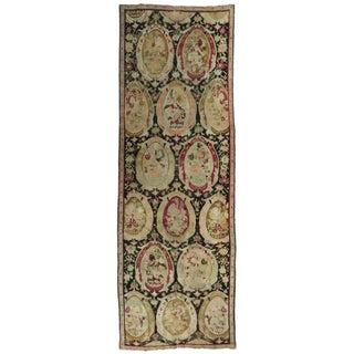 Antique Karabagh Hand-Knotted Rug - 4′2″ × 12′ For Sale