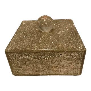 Mid Century Modern Glam Lucite Trinket Box For Sale