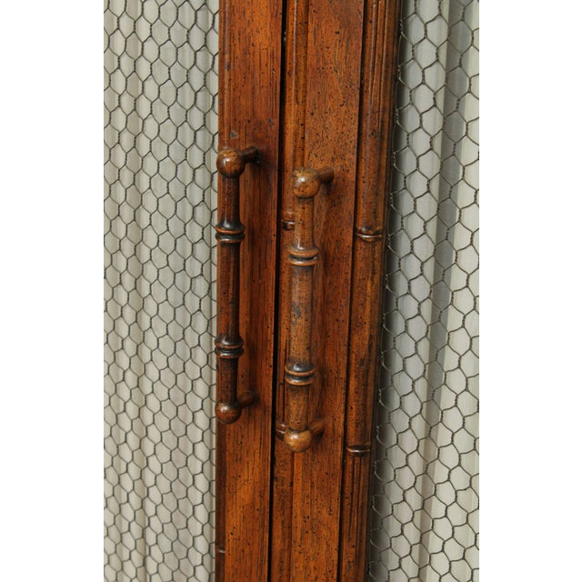 Century Faux Bamboo Bedroom Armoire Cabinet For Sale - Image 10 of 13
