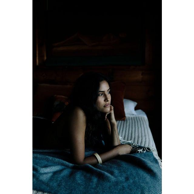 Herringbone Throw in Twilight For Sale - Image 11 of 13
